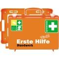 SÖHNGEN® Erste Hilfe Koffer DIREKT 31 x 21 x 13  cm (B x H x T) DIN 13157 inkl. Wandhalterung mit  90-Stopp-Arretierung orange