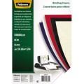 Fellowes® Einbanddeckel Chromolux DIN A4 250g/m  Karton, Lederoptik blau 100 St./Pack.