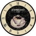 technoline® Wanduhr Espresso WT 1015 34 x 3,3 cm (Ø x T) mitteldichte Holzfaserplatte (MDF) mehrfarbig, Maße: 34 x 3,3