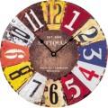 technoline® Wanduhr Vintage WT 1019 30 x 3,3 cm (Ø x T) mitteldichte Holzfaserplatte (MDF) mehrfarbig, Maße: 30 x 3,3