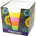 Soennecken Zettelklotz 9 x 9 cm (B x T) 80g/m²  holzfreies Papier weiß, gelb, pink, orange, grün,  blau 800 Bl.