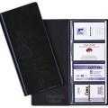 DURABLE Visitenkartenbuch VISIFIX® 96 11,5 x 25,3  x 8,5 cm (B x H x T) 90 x 57 mm (B x H) 96 Karten  PVC schwarz 12 Hüllen