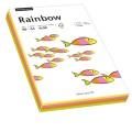 Rainbow Multifunktionspapier Color DIN A4 80g/m  50 x neongelb, 50 x neonorange, 50 x neonpink, 50  x neongrün 200 Bl./Pack.