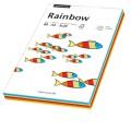 Rainbow Multifunktionspapier Color DIN A4 80g/m  20 x gelb, 20 x intensivorange, 20 x intensivrot,  20 x leuchtendgrün, 20 x blau 100 Bl./Pack.