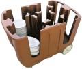 Geschirrabräumwagen. 4 Einteilungen. Polyethylen.  verstellbare Säulen für diverse