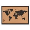 Zeller Pinbord World, Kork, schwarz 60x40 cm