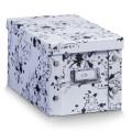 Zeller CD-Box, Pappe, weiß floral