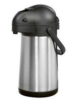 Pump-Isolierkanne / Pumpspender STREAM,  Inhalt: 1,9 Liter, aus doppelwandigem Edelstahl,  H�he: 32,7 cm, Durchmesser: 15 cm.