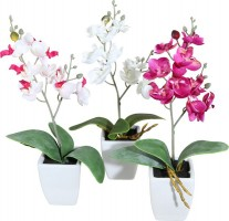 Kunstpflanze Mini-Orchidee 3er Set