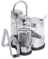 Menage 5-teilig NEW LINE Serviettenhalter, Senf, Salz & Pfeffer, L�ffel L�nge: 8 cm, Breite: 10 cm, H�he: 12,5 cm