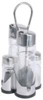 Menage 5-teilig NEW LINE Essig & �l, Salz & Pfeffer L�nge: 9,5 cm, Breite: 9,5 cm, H�he: 22 cm