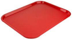 Tablett MODERN 45 x 35cm  Farbe rot Stapelnocken, bedingt rutschfest