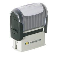 Soennecken Textstempel 47 x 18 mm (B x H)  Kunststoff schwarz/hellgrau