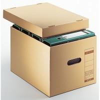 Leitz Archivbox Premium 34 x 27,5 x 45,5 cm (B x  H x T) DIN A4 mit Archivdruck  Wellpappe/Natronpapier, kaschiert naturbraun