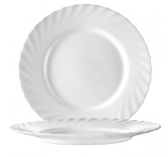 Speiseteller 24,5 cm Form Trianon uni weiß - ARCOPAL