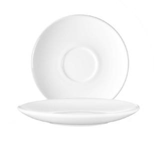 Kaffeeuntertasse 14 cm Form Restaurant uni weiß AROCPAL