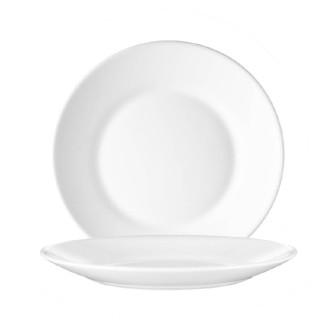Dessertteller 19,5 cm Form Restaurant uni weiß ARCOPAL