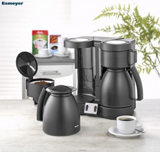 Kaffeemaschine Krups Duothek Therm Farbe: schwarz seiden-matt, mit Abschaltautomatik