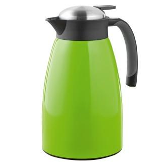 Isolierkanne GLACE, Inhalt 1,5 Liter aus doppelwandigem Edelstahl, grün lackiert