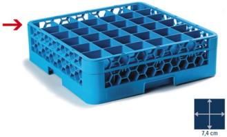 Carlisle Aufsatz für Gläserkorb 50 x 50 cm, blau, 36 Fächer à 7,4 x 7,4 cm, Höhe 4 cm