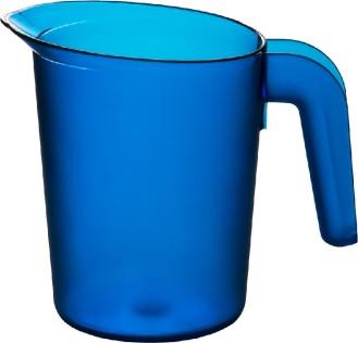 Roltex Saftkanne LUCY, Inhalt: 0,5 Liter, Farbe: blau, Höhe: 122 mm, aus Polycarbonat, spülmaschinen- und mikrowellengeeignet.