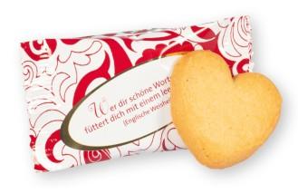 Coppenrath Cookie-Herzen Caramel, Inhalt: 200 Stück á 5 g je Karton.