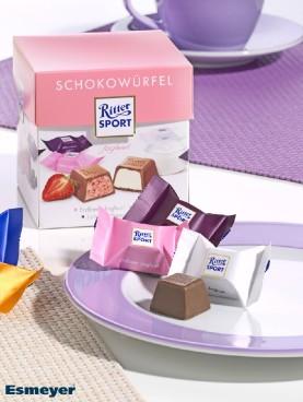 RITTER SPORT SCHOKOWUERFEL Joghurt 176G, Inhalt: 22 Stück à 8 g je Karton, einzeln hygienisch verpackt