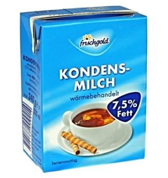 Frischgold Kondensmilch mit 7,5 % Fett, Inhalt: 340g.