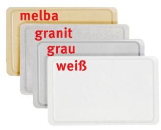 Tablett EASY Gastronorm GN 1/1, Farbe: weiss, aus glasfaserverstärktem Polyesterharz, Länge: 530 mm, Breite: 325 mm, Höhe: 16 mm