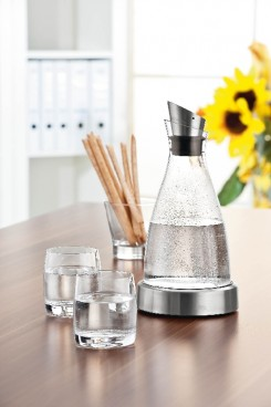 Emsa K�hlkaraffe FLOW,  Inhalt: 1,0 Liter, H�he: 250 mm, aus Glas, sp�lmaschinengeeignet.