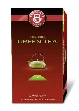 Teekanne Premium GREEN TEA, Inhalt: 20 Beutel à 1,75 Gramm, Grüner Tee, mild und aromatisch.