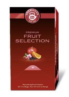 Teekanne Premium FRUIT SELECTION, Inhalt: 20 Beutel à 1,75 Gramm, Fruchtiger und erfrischender Mix.