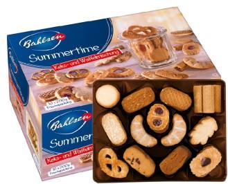 Bahlsen SUMMERTIME, Inhalt: 10 Serviereinheiten à 200 g, 11 Gebäckspezialitäten ohne Schokolade.