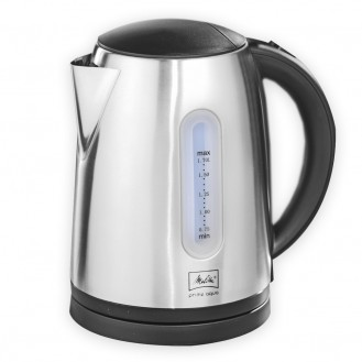 Melitta Wasserkocher Prime Aqua, Farbe: schwarz/ Edelstahl, Inhalt: 1,7l Leistung: 2200 Watt