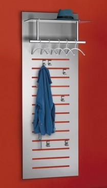 Design tec-art Wandgarderobe, incl. 5 Kleiderbügel und 6 Haken, B 60 x T 51 x H 170 cm,