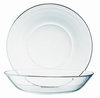 Hartglas Teller/Schüssel COSMOS Durchmesser 14 cm - Höhe 2,5 cm