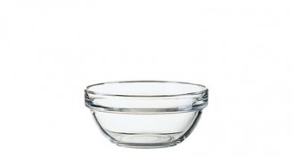 Glasschale EMPILABLE, Inhalt: 0,33 Liter, Durchmesser: 120 mm, Höhe: 55 mm, stapelbar.