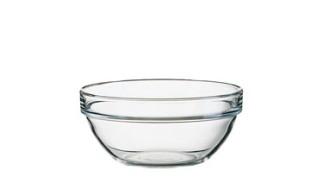Glasschale EMPILABLE, Inhalt: 0,57 Liter, Durchmesser: 140 mm, Höhe: 64 mm, stapelbar.