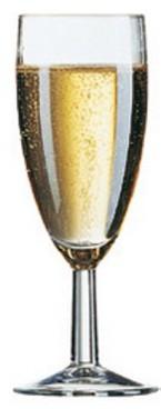 Sektkelch FIVESTAR, Inhalt: 0,15 Liter, Höhe: 156 mm, Durchmesser: 60 mm, Füllstrich bei 0,10 Liter.