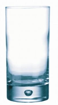 Longdrinkbecher DISCO, Inhalt: 0,34 Liter, Höhe: 140 mm, Durchmesser: 78 mm, Durobor, auch mit Füllstrich erhältlich.