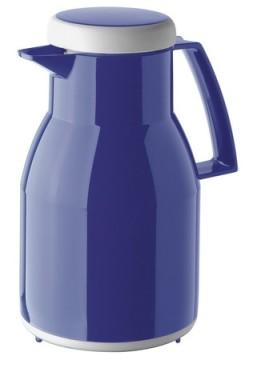 Helios Isolierkanne WASH, Inhalt: 1 Liter Farbe: dunkelblau, spülmaschinengeeignet, Kunstoff, Qualitätsglas-Einsatz, Drehverschluß,