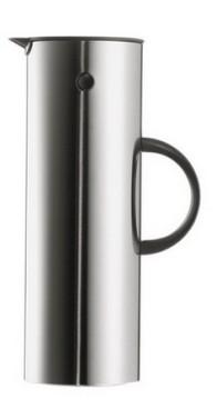 Isolierkanne CLASSIC 900, Inhalt: 1 Liter, von Stelton, aus Edelstahl 18/8, mit Glaseinsatz, Höhe: 300 mm