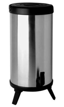Helios Isolier-Getränkespender MAXX,  Inhalt: 10 Liter, mit Tragebügel aus Kunststoff, doppelwandiger Edelstahlkörper,