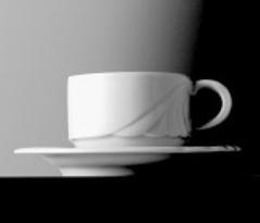 Kaffeeobertasse AMBIENTE, Inhalt 0,18 ltr., ohne Untertasse, uni weiss, Eschenbach