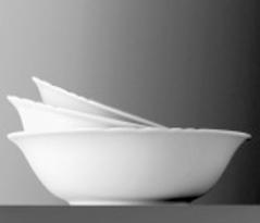 Schüssel rund - Durchmesser 23,0 cm - Form AMBIENTE - uni weiß - Höhe 6,5 cm