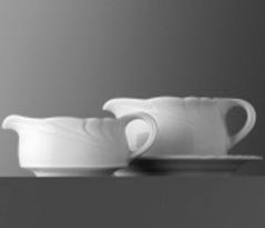 Buttersauciere - Inhalt 0,10 ltr - Form AMBIENTE - uni weiß
