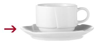 Kaffeeuntertasse, Durchmesser: 150 mm, Form DANIELA, Porzellan, uni weiss