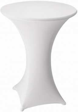 Stretch-Stehtischhusse MARS, Farbe: weiss, Durchmesser: 70-75 cm, incl. Topcover, 210 g/qm, Material: 10% Elastan, 90% Polyester