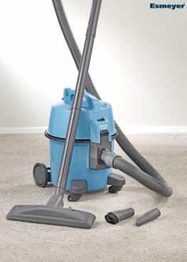 Staubsauger HITACHI CV-400 eco, beutelloser Bodenstaubsauger, Farbe: blau, inkl. Zubehör und HEPA-Filter