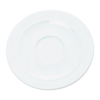 Kaffee-/Suppenuntertasse ALICE, Durchmesser: 16cm, uni weiß, Henneberg Porzellan